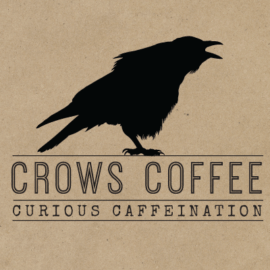 Feed Me Creative Logo Development and Design for Crows Coffee Shop in Kansas City