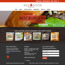Red Door Grill Website by Feed Me Creative