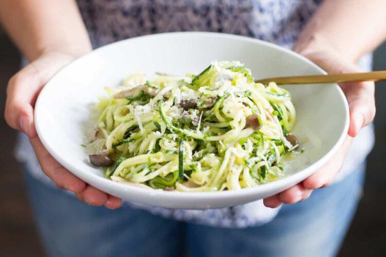 spiralized zucchini noodles food photography kansas city
